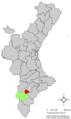 Localització de Petrer respecte el País Valencià.png