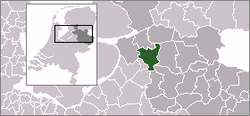 Location of Zwolle in Overijssel, Netherlands