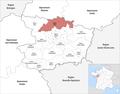 Locator map of Kanton Tiercé 2019.png
