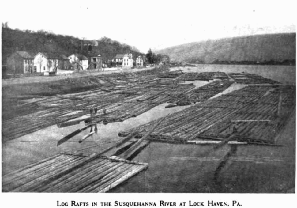Lock Haven Log Rafts