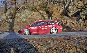 2007 Monte Carlo Rally - The Citroën C4 WRC, driven by Sébastien Loeb and Daniel Elena, made its début during the Monte Carlo Rally. It was Loeb's first rally since breaking his arm four months prior.