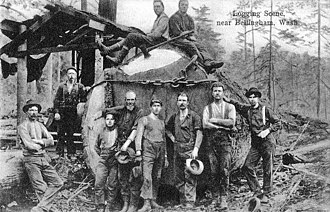 Paul Bunyan - Lumberjacks near Bellingham, Washington in c. 1910
