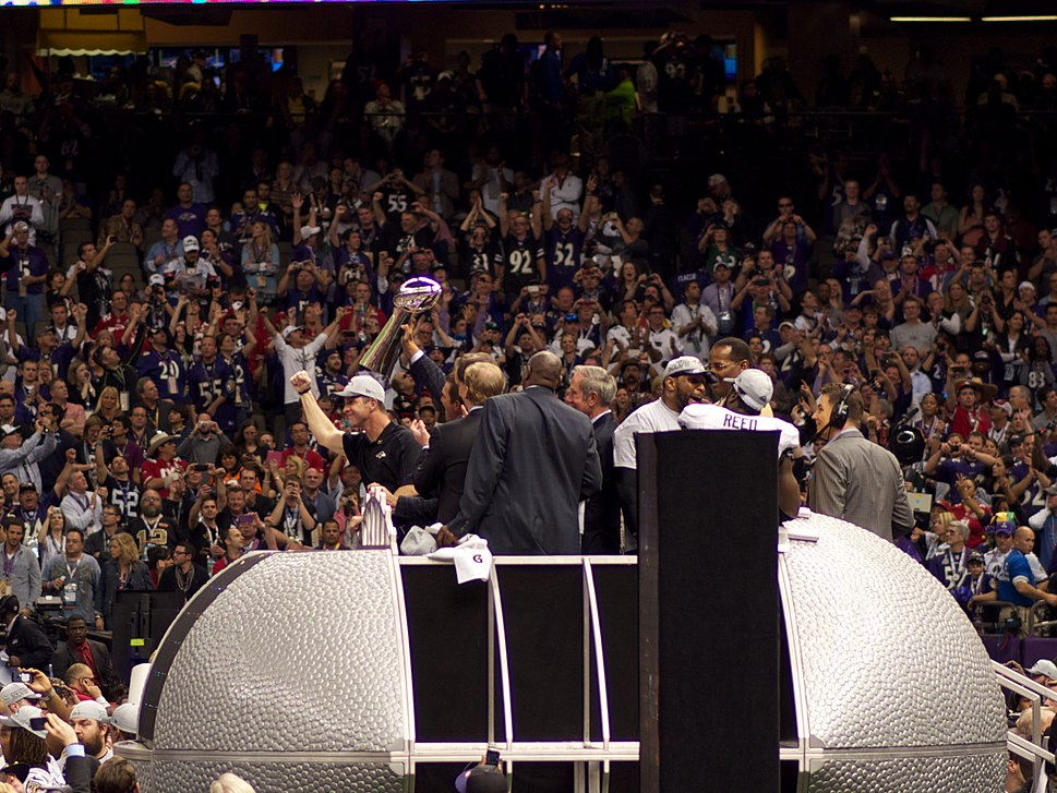 Lombardi Trophy following Super Bowl XLVII