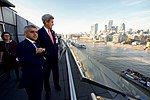 London Mayor Khan Shows Secretary Kerry the View From His Office at London City Hall (30063333534).jpg
