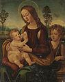 Lorenzo di Credi (Cerchio) - Madonna col Bambino con San Giovanni Battista.jpg