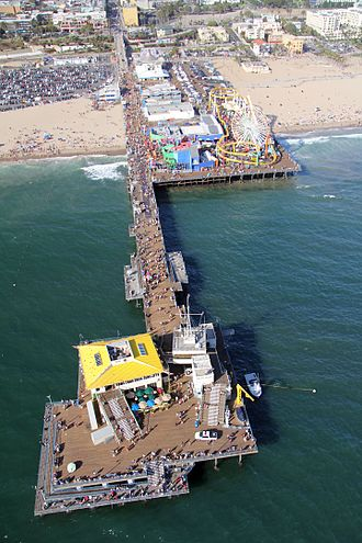 The Amazing Race 5 - The race's starting line was at Santa Monica Pier in Santa Monica, California.