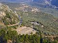 Lower part of the Delphi Archaeological site, telephoto from Phaedriades, Dlfd401.jpg