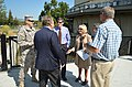 Lt. Col. Chris Tande talks with Napa Mayor Jill Techel (9404879378).jpg