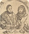 Lucas Cranach the Elder, Frederick the Wise and John the Constant of Saxony, 1509, NGA 6061.jpg