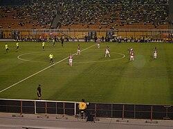 Equipes da Portuguesa e do Palmeiras em partida do Campeonato Brasileiro de  2008 no Estádio do Pacaembu. 543e5829ff757