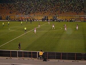 Associação Portuguesa de Desportos - Palmeiras and Portuguesa in action in the Campeonato Brasileiro 2008 at the Estádio do Pacaembu
