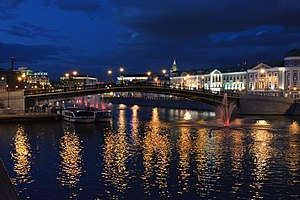 Luzhkov Bridge in the late evening 02.JPG