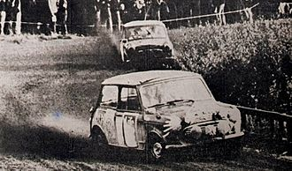 European Rally Championship - Timo Mäkinen and Rauno Aaltonen at the 1965 1000 Lakes Rally