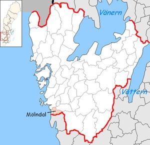 Mölndal Municipality - Image: Mölndal Municipality in Västra Götaland County