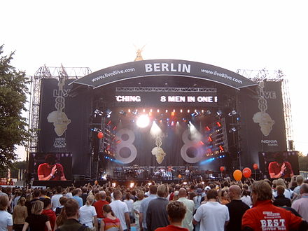 Live 8 concerts took place in 9 countries worldwide during 2005. M4100164.JPG