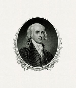 Second inauguration of James Madison - Image: MADISON, James President (BEP engraved portrait)