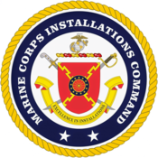 Logo of the Marine Corps Installations Command, part of the U.S. Marine Corps.