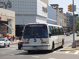 Queens Boulevard Line (surface) - Image: MTA Bus GMC RTS 1837