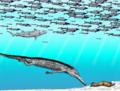 Machimosaurus & Cetiosauriscus & Hybodus & Aspidorhynchus JWArtworks.png