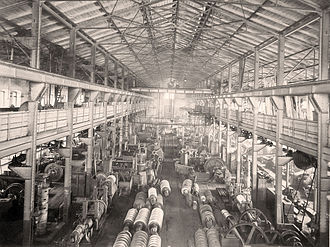 Machine shop - Late 19th-century machine shop