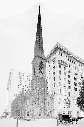 Richard M. Upjohn - Madison Square Presbyterian Church (1853–54), Upjohn's first design on his own