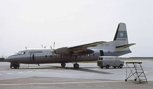 Maersk Air - A Fokker F27 at Pisa Airport in 1972