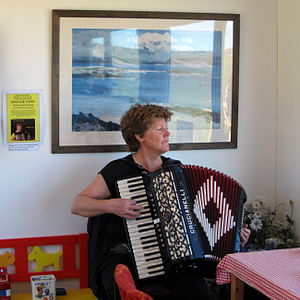 Culture of the Falkland Islands - An accordion player in the Falkland Islands