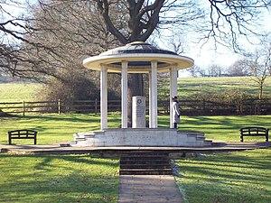 English: Magna Carta Memorial, Runnymede The M...