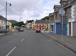 Clonmany Village in Ulster, Ireland