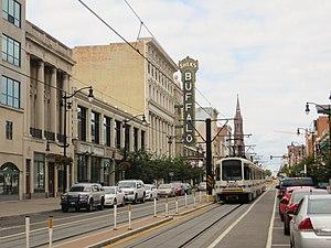 Buffalo Metro Rail - Metro Rail near Shea's Performing Arts Center