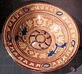 Maiolica ispano-moresca, piatto a lustro, catalogna xvi-xvii secolo.jpg