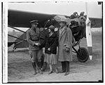 Maj. Howard P. Davidson, Miss Ruth Nichols, Robt. C. Oertel, 3-19-29 LCCN2016843480.jpg
