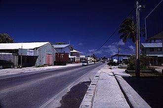 Majuro - Image: Majuro main road
