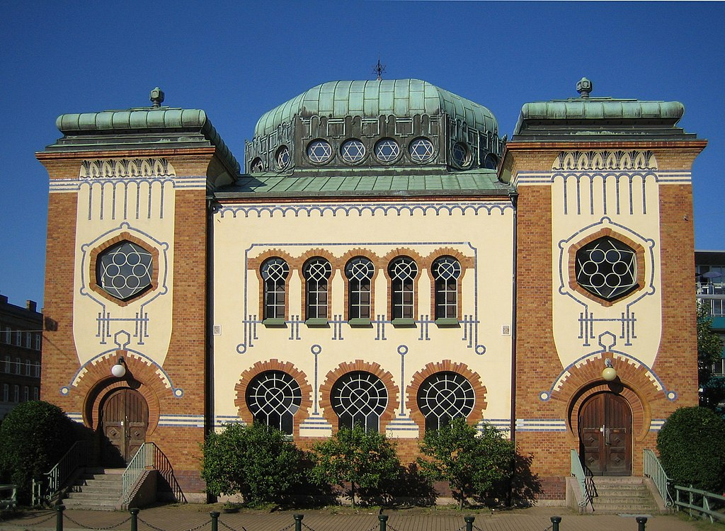 Synagogue art nouveau de Malmo - Photo de jorchr