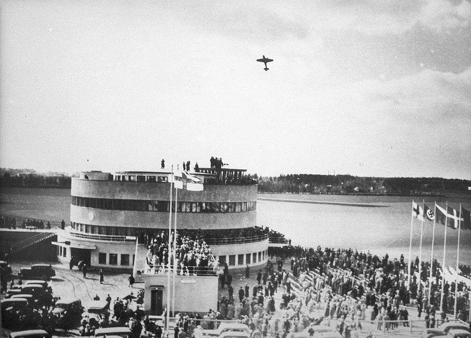Malmin lentokentän vihkiäiset 1938