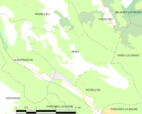 Map commune FR insee code 01019.png