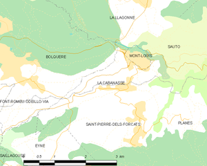 La Cabanasse - Map of La Cabanasse and its surrounding communes