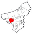 Map of East Allen Township, Northampton County, Pennsylvania Highlighted.png