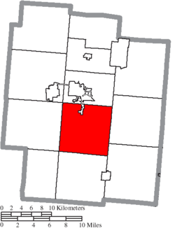 Location of Franklin Township in Jackson County