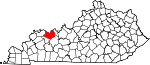 State map highlighting Daviess County
