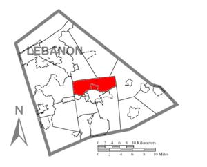 North Lebanon Township, Lebanon County, Pennsylvania - Image: Map of Lebanon County, Pennsylvania Highlighting North Lebanon Township