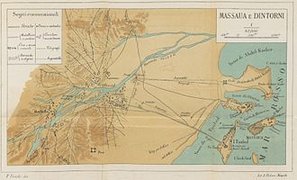 Massawa - Historical map of Massawa.
