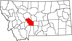 Map of Montana highlighting Meagher County.svg