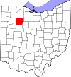State map highlighting Hancock County
