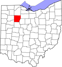 Map of Ohio highlighting Hancock County.svg