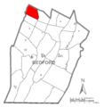 Map of Pavia Township, Bedford County, Pennsylvania Highlighted.png