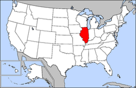 Illinois Simple English Wikipedia The Free Encyclopedia - Illinois on the map of usa
