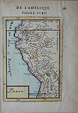 Mapa del Perú. 1683. Versión francesa