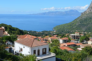 Maratea - The Tyrrhenian coast as seen from Maratea.