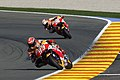 Marc Márquez and Dani Pedrosa 2015 Valencia.jpeg